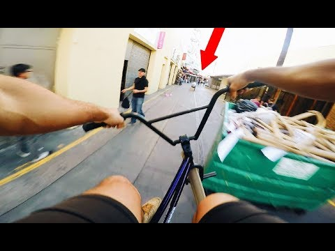 RIDING BMX IN FORBIDDEN ALLEYS OF LA (BMX IN THE HOOD)