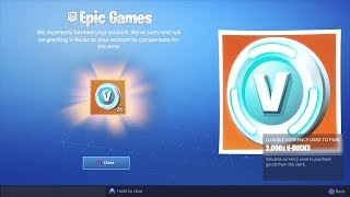 How I got UNBANNED from Fortnite... (FREE VBucks)