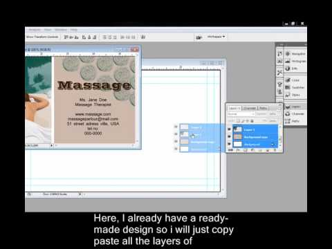 Making business cards in adobe photoshop youtube making business cards in adobe photoshop reheart Choice Image