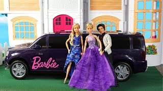 Barbie Twins Get Ready Routine for School Dance with Dresses - Will She be Prom Queen?