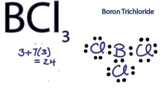 BCl3 Lewis Structure - How to Draw the Lewis Structure for BCl3
