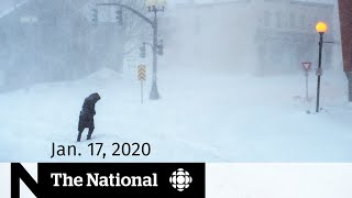 WATCH LIVE: The National for Friday, Jan. 17 — Blizzard paralyzes Newfoundland