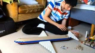 Building a massive lego airplane