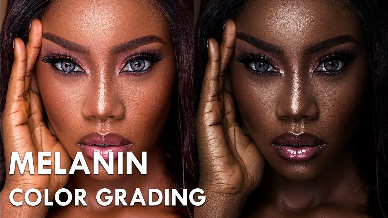 Melanin Skin Tone Color Grading In Photoshop Youtube