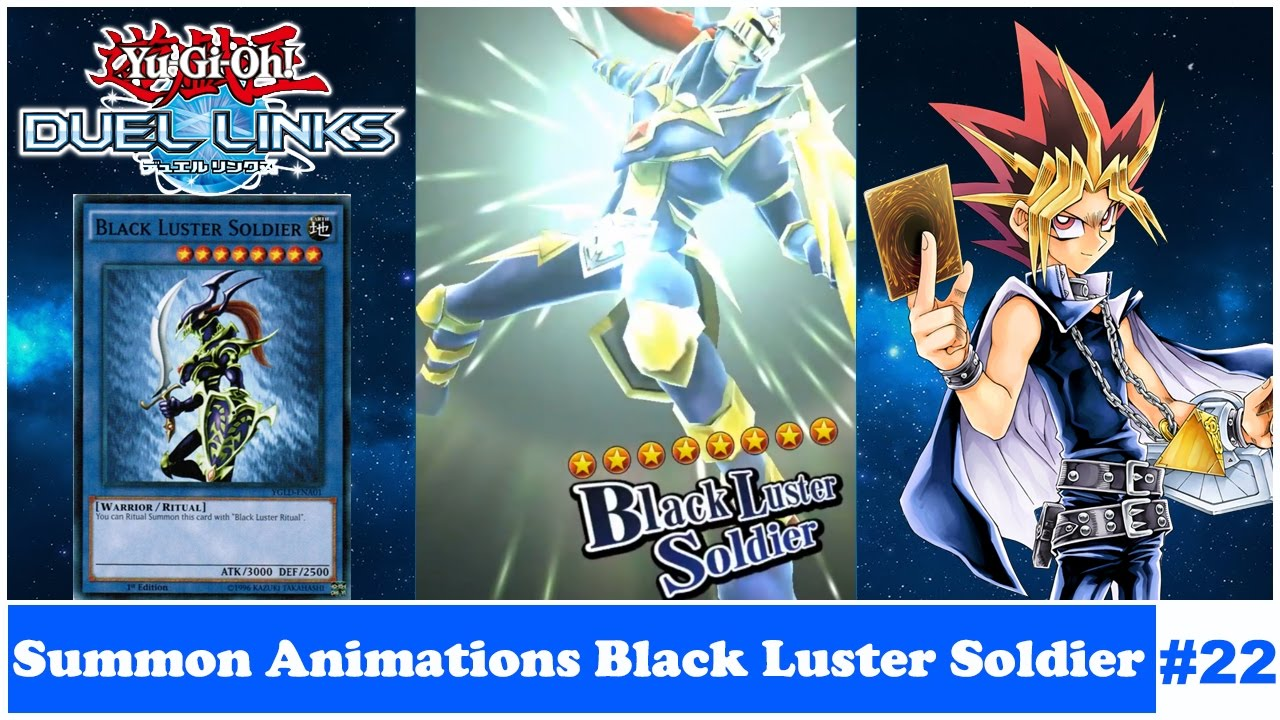 yu gi oh duel links summon animations black luster soldier 22