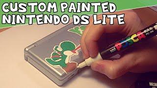 Custom Painted Nintendo DS Lite - Yoshi