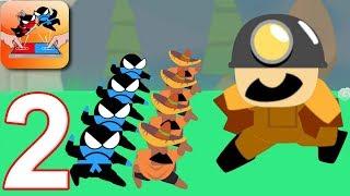 JUMPING NINJA BATTLE - Walkthrough Gameplay Part 2 - WORLD BATTLE (Android Games)