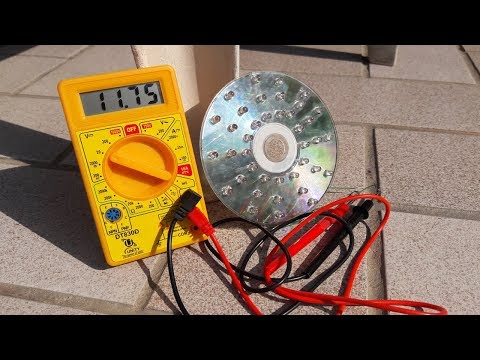 How To Make12v Solar Energy with CD Disk- Free Solar Energy