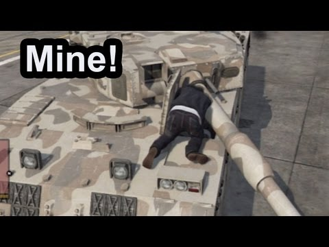 GTA 5: How To Steal A Tank(No Guns Or Cheats Needed)