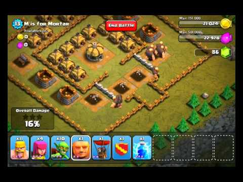 Clash of Clans Level 13 - M is for Mortar