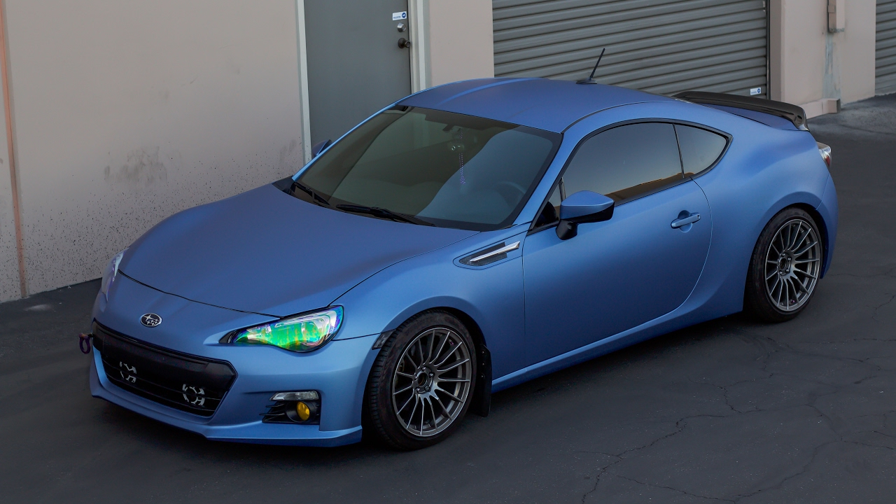 MATTE BLUE Brz Vinyl Wrap | VLOG! - YouTube