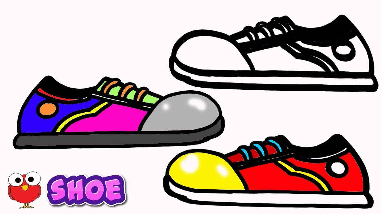 Learn How to Draw shoes for Kids