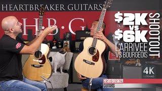 SHOOTOUT: $2K vs $6K Guitars: Larrivee vs. Bourgeois
