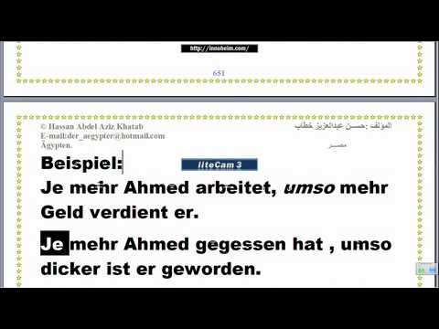 Lektion 146 Je Desto تعليم اللغة الألمانية تابع آداة الربط3 Youtube