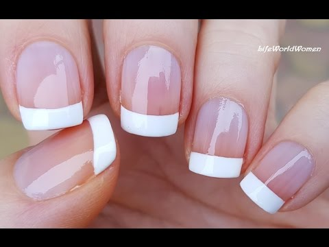 5 Ways To Make French Manicure Nail Art Diy Ideas Youtube