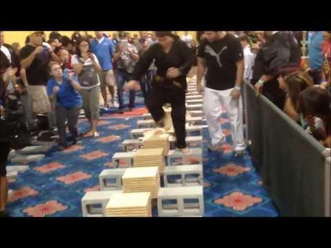 USBA/WBA World Record- Jarrett Guzman- 362 1/2″ boards with a stomp- 7/2013
