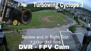 Turbowing Cyclops 3 DVR 720p FPV Cam. Review, Mjx Bugs 2W flight Test