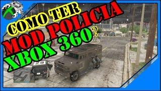 GTA 5 COMO TER MOD POLICIAL no XBOX 360 2017 COM PARCEIROS +MOD MENU+ LEVEL E DINHEIRO ON LINE