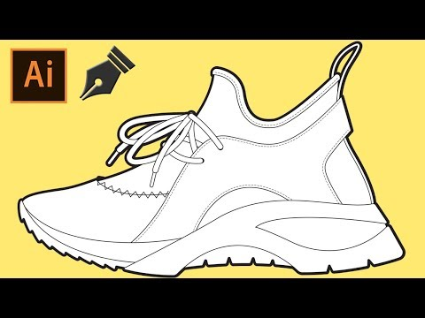 SNEAKER DESIGN by a Footwear Designer Using Adobe Illustrator and a Mouse - TIME LAPSE