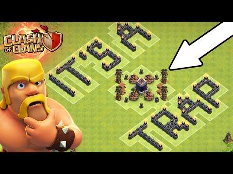 Clash Of Clans | FREE DARK ELIXIR? | NO WAY!! ITS A TRAP! | Epic Loot Troll Base 2016!