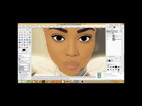 How to Cartoon yourself on computer //Gimp 2019 tuto for beginners thumbnail