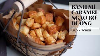 Sugar butter caramel sandwiches for sweet breakfast 💕  甘い朝食用のシュガーバターキャラメルサンドイッチ