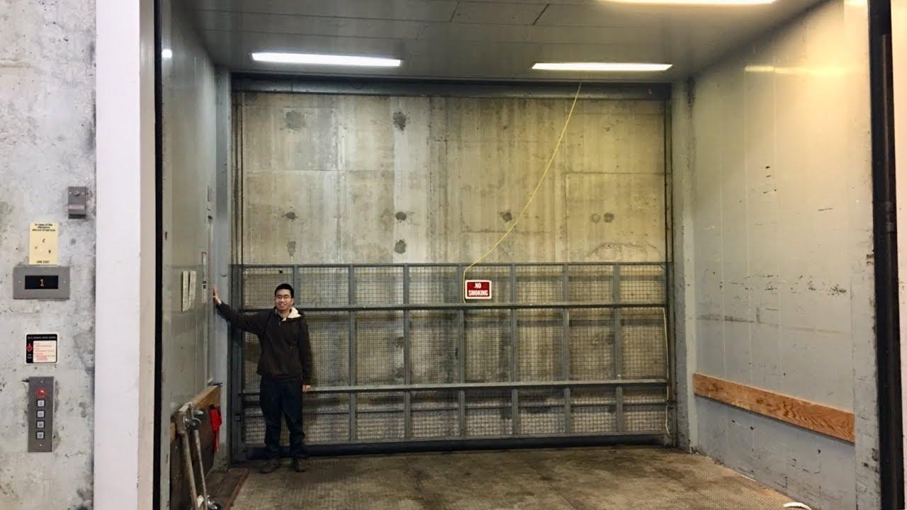 Huge 1998 Schindler Traction Freight Elevator Youtube
