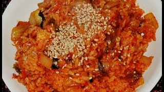 Recipe: Healthy Vegetarian Kimchi Fried Rice (김치볶음밥) By Omma's Home