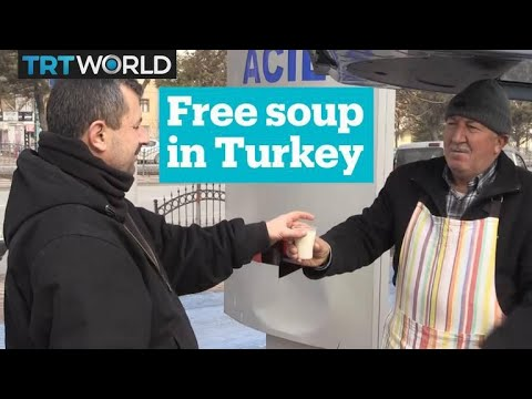 Turkish couple makes soup for hospital visitors