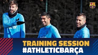 Back to training to prepare the match against Athletic