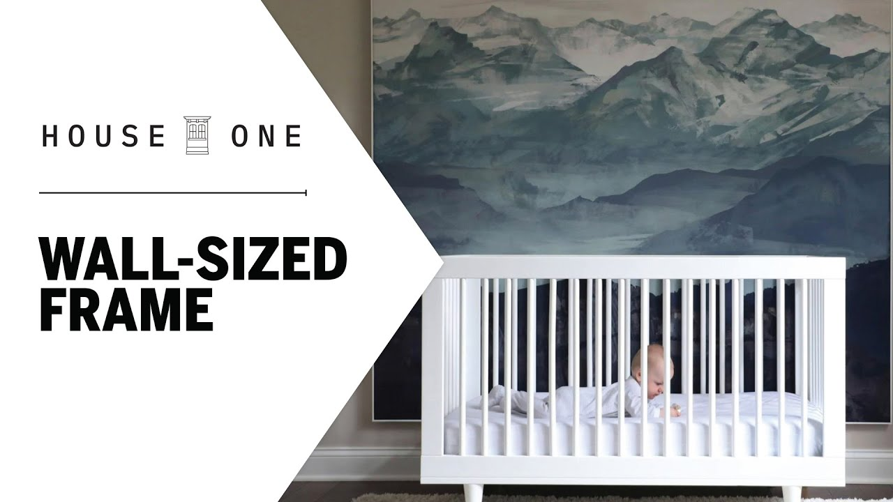 How to Build a Wall-Sized Frame for a Fabric Print | House One
