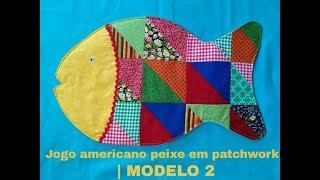 Jogo Americano Peixe em Patchwork