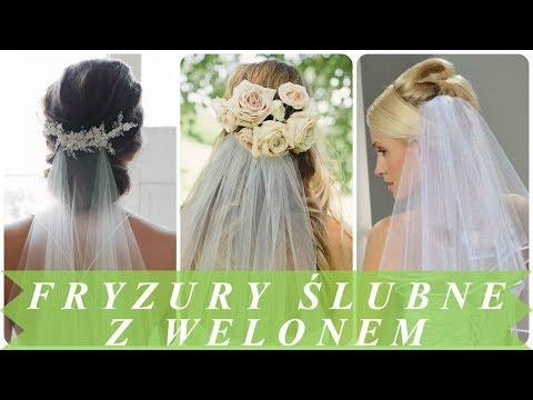 Trendy Fryzury ślubne Z Welonem 2018 Youtube