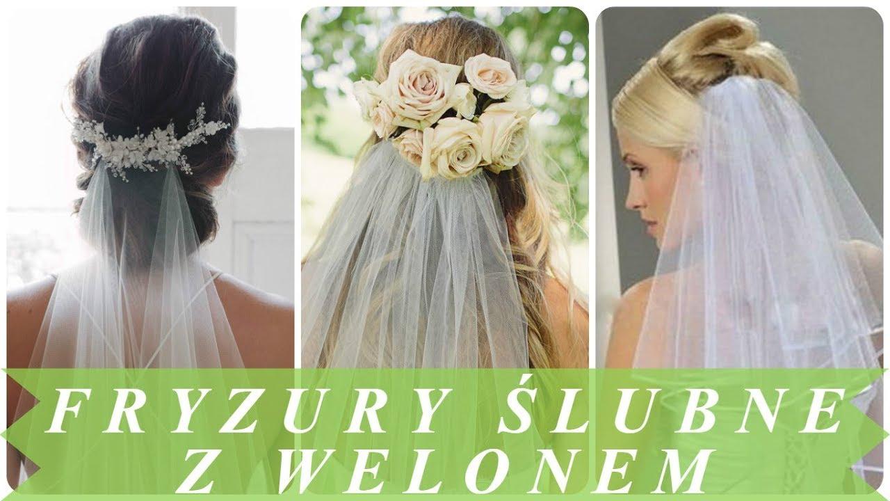 Trendy Fryzury ślubne Z Welonem 2018