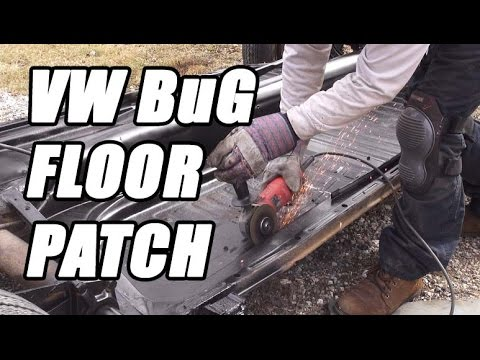 Classic VW BuGs How to Cut Repair Weld Beetle Floor Pan Battery Section