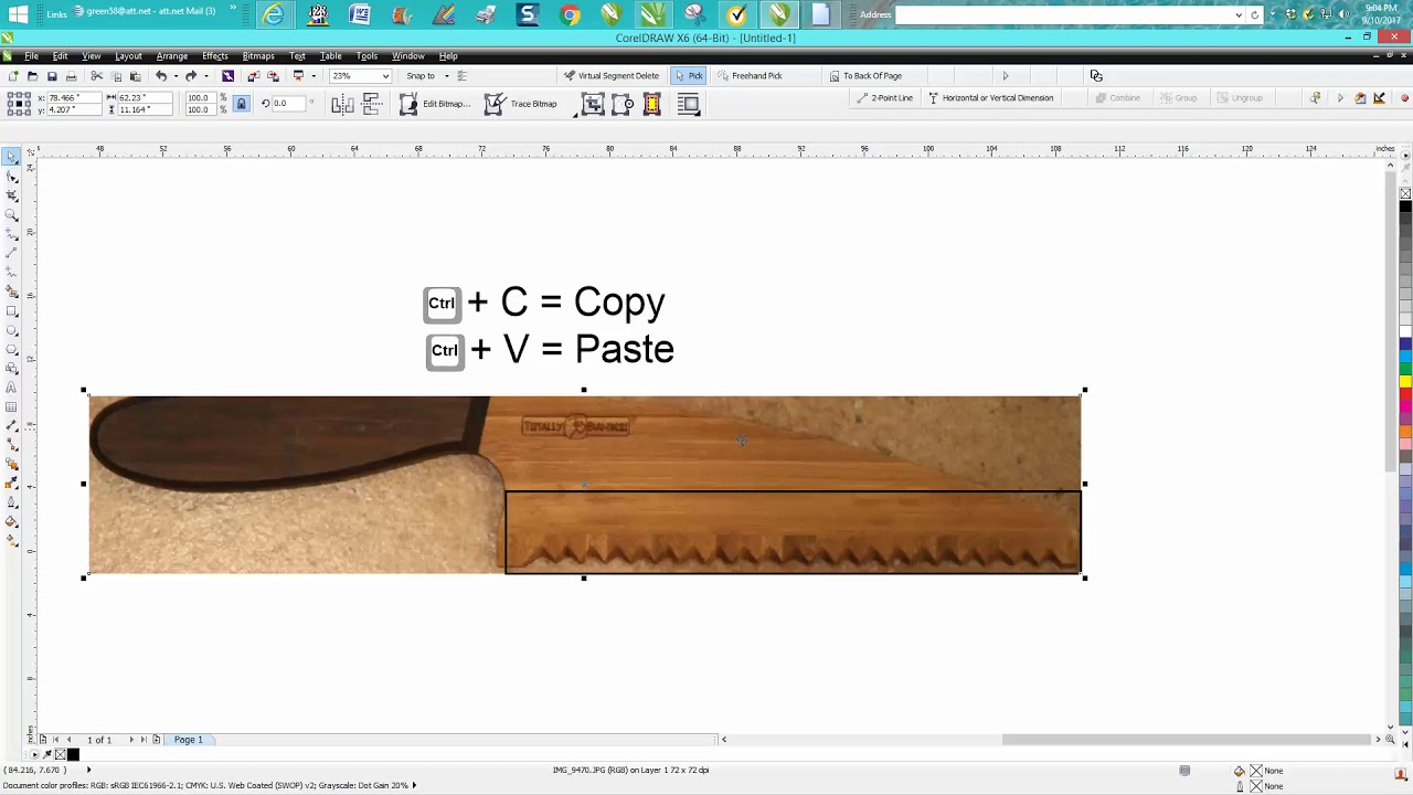 Corel Draw Tips & Tricks Scale a photo to Actual size
