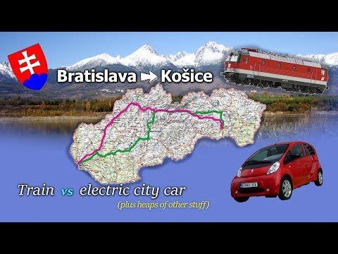 Electric cars, bikes + racing the train!