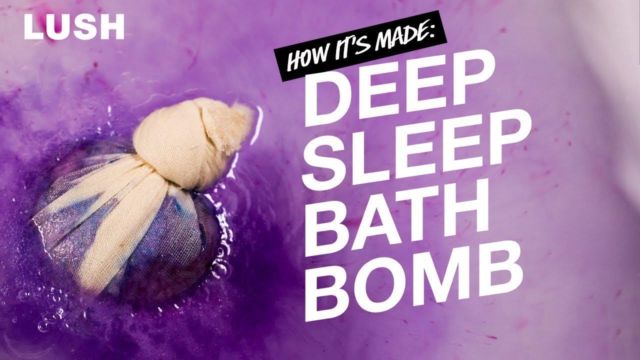 Lush How It's Made: Deep Sleep Bath Bomb