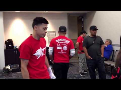 Goldenboy boxing stars came to support boxing prospect Adan Ochoa - EsNews boxing