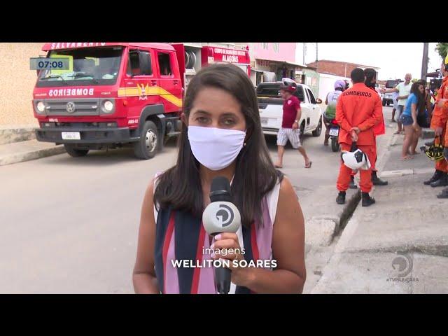 No Tabuleiro do Martins: Laje de proteção de residência desaba e deixa 8 feridos