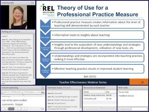 Using Teacher Evaluation to Change Teaching