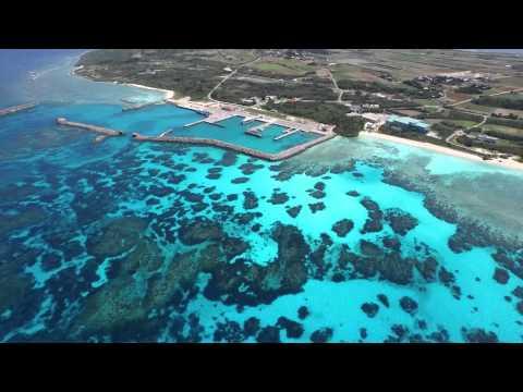 波照間島 ひたすら青い海 by 八重山空中さんぽ Yaeyama air walk on YouTube