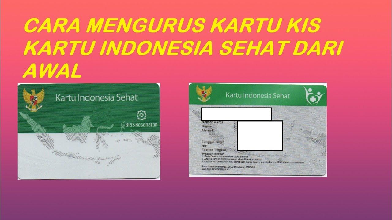 Cara mengurus kartu KIS/kartu indonesia sehat dari awal - YouTube