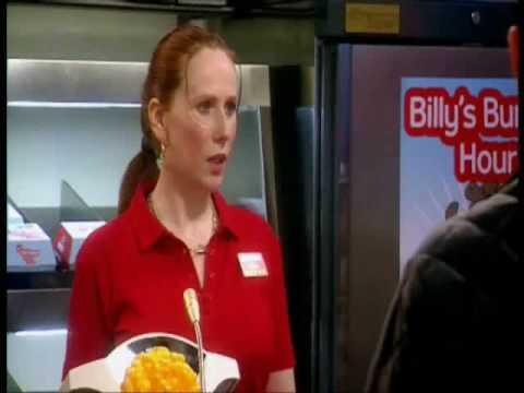 Catherine Tate/Lauren working at Billy Burger Bar