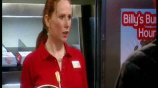 Catherine Tate/Lauren working at Billy Burger Bar