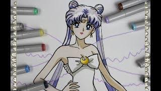 Cómo Dibujar a la Reina Serenity del Milenario de plata Madre de Sailor Moon How To Draw Sailor Moon