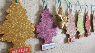 Christmas decoration using car little tree air fresheners DIY