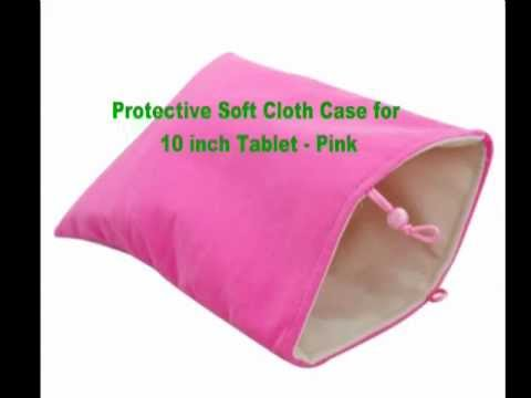 Protective Soft Cloth Case for 10 inch Tablet - Pink 46585