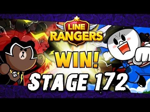 [LINE Rangers] STAGE 172 CLEAR! แมพกว้างยังกะกรุงเทพ-เชียงใหม่