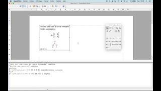 Open Office matrice Quick tutorial